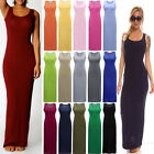 New Womens Long Sleeveless Evening Party Cocktail Dress Ladies Clubwear Gowns