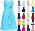 Cute Short Strapless Prom Dress Bridesmaid Dress Party Evening Formal size 6-20