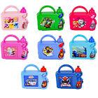 NEW CHILDREN'S TV & DISNEY CHARACTER HARD CASE LUNCH BOX SETS WITH SPORTS BOTTLE