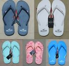 NWT Hollister Women Graphic Rubber Logo Flip Flops Slippers By Abercrombie