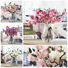 Artificial Fake Cherry Blossom Silk Flower Bridal Hydrangea Home Garden Decor