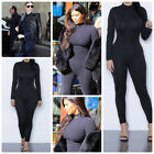 Celebrity Style High Neck Dance Unitard Catsuit Size 6,8,10,12UK/2,4,6,8USA