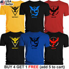 Pokemon Go Team Valor Team Mystic Team Instinct Pokeball T-Shirt Red Blue Yellow