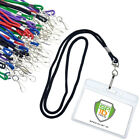 25 Pack Premium Horizontal Name Tag Badge Holders with Lanyards by Specialist ID