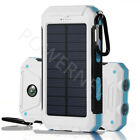 2020 Waterproof Solar Power Bank 900000mAh Portable Battery Charger White New US