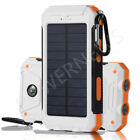 Waterproof Solar Power Bank 900000mAh Portable External Battery Charger White US