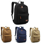 """Canvas Laptop Backpack Bag 15""""15.6"""" PC Casual Knapsack Travel Pouch For Asus HP"""