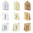 Card Table Numbers 1-15 Laser Cut - Various designs in 3 colours