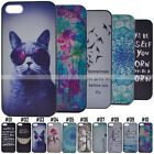 PC Back Thin Patterned Various Hard Case Cover Skin For iPhone 5C SE 5S 6S Plus