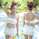 Korean Style Women Sexy Ruffle Push Up Padded Bikini Dress Set Swimsuit Swimwear