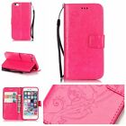Strap Embossing Flower Leather Wallet Card Flip Case Stand Cover For LG WIKO YB