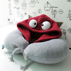 U Shaped Travel Pillow with Cap/Hat Cute Neck Pad Cotton Cartoon Gift Soft New