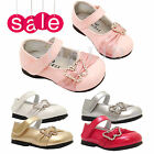 Girls Sandals kids Infant Children Diamante Wedding Bridesmaid Party Shoes 2-6