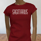 Horoscope Fire Sagittarius Zodiac Astrological Sign Womens Red T-Shirt