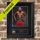 ANDERSON SILVA Signed Mounted Autograph Photo Prints A4 569