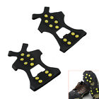1Pair Ice Snow Shoe Spikes Grips Crampons Cleats Anti Slip 10-Teeth Hiking 4Size