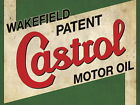 Large 'Castrol Oil ' Tin Sign Tin Plaque