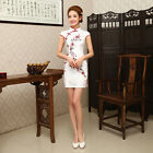 Chinese Dress Short Mini Vintage Style Evening Party Embroidery Qipao Cheongsam