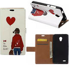 for Alcatel HTC Samsung Blackberry Phone wallet Card Leather Case Stand Cover JL