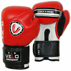 VELO Leather Boxing Gloves Sparring Punch Bag Muay Thai kickboxing Training MMA