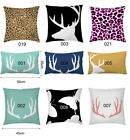 Animal Collection Deer head Butterfly Cushion Cover Home Decor Throw Pillow Case
