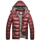 Men's Parka Zip Padded WARM Hooded Jacket Bubble Puffer Coat Winter Outerwear