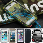 Shockproof Heavy Duty Aluminum Glass Metal Case Cover For Samsung Galaxy &iPhone