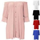 Sexy Womens Ladies Baggy Off Shoulder Casual Party Elastic Top Flared Mini Dress