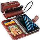 Samsung Galaxy J3(2016) - Genuine Lauxary Leather Antique Wallet Flip Case Cover
