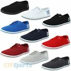 Henleys Mens Stash Lace Up Canvas Shoes Casual Pumps Summer Beach Plimsolls New