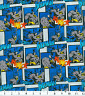 Batman Thwack Fwooshh! Fabric Cotton Home Decor Quilting Crafting