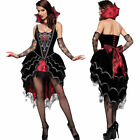Gothic Deluxe Dark Webbed Mistress Costume Vampire Fancy Dress Halloween Outfit
