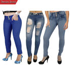 Fashio Women's Ladies Stretch Skinny Denim Jeans