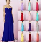 Long Strapless Chiffon Ball Gown Evening Formal Dress Prom Bridesmaid Dresses