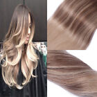 Ombre Human Hair Weave Remi Hair Extensions Color Medium Brown to Ash Blonde New