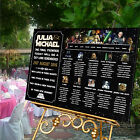 Personalised Wedding Table Seating Plan-STAR WARS THEME-4 SIZES AVAILABLE