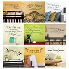 Inspirational Wall Sticker Bible Romantic Saying Art Vinyl R