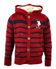 NEW BOYS STRIPED FLEECE HOODED CARDIGAN FROM TOP BRAND US POLO 3 GREAT COLOURS