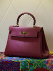 NEW Milan Soft Vintage Italian Leather Satchel Tote Handbag (GHW) 28CM, 32CM