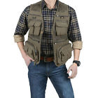 Men Outdoor Multi-Pocket Vest Breathable Fishing Photography Quick-Dry Jacket