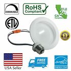 """Downlight LED 12 Pack 9W Wet Rated Baffle Trim Recessed Retrofit 4"""" Down Light"""