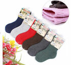 6 Pairs Child Girls Boys Kids Cashmere Wool Thicken Warm Multi-Color Socks 3-9Y