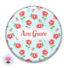 Personalised ROSE Compact/Handbag Pocket Mirror (58mm) Gift / Wedding Favour