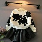 Toddler Kids Baby Girls Clothes Sweatshirt Jumper T-shirt+Skirt 2PCS Outfits Set