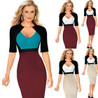 New Womens Ladies Bodycon Business OL Party Cocktail Pencil Dresses Size S-5XL