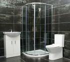 Hera 800 or 900mm Quadrant Shower Enclosure Suite Inc. Choice of WC