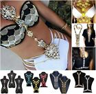 Fashion Luxury Women Sparkle Cross Body Chain Necklace Coin Tassel Bikini