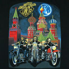 Russian T-shirt HARLEY DAVIDSON MOTO in USSR  MOSCOW FREE SHIPPING Cotton