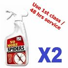 2x No More Spiders Spray Creates a Natural Border To Stop Repeller Deterrent