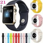 Luxury Silicone Wrist Bracelet Sport Band Strap For Apple Watch iWatch 38/42mm